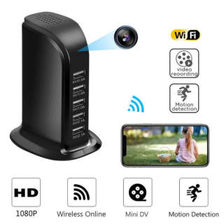 (XẢ KHO) Camera Mini WIFI Không Dây, Camera IP WIFI, Máy Quay IP HD 1080P Camera An Ninh Bộ Sạc Tường USB, Thiết Kế Tinh Tế Hiện Đại Giám Sát Từ Xa, Camera Giám Sát Trẻ Em Dành Cho Nhà Thông Minh thumbnail