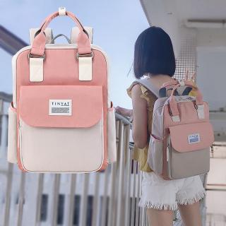 TINYAT cặp học sinh Balo thời trang thời trang nữ phong cách Hàn Quốc đi học laptop nam(Có túi đựng nước 2 bên) thumbnail