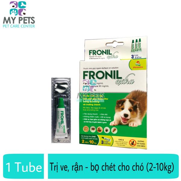 Fronil Extra nhỏ gáy hết ve rận, bọ chét cho chó (size 2-10kg) (VMD) - Lẻ 1 tuyp. ( 1 tubes. no box)