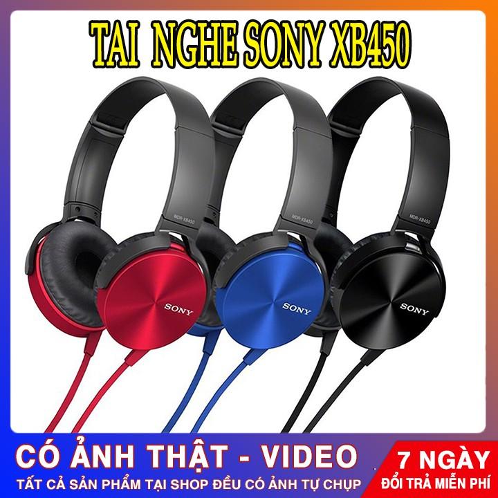 Tai Nghe Chụp Tai Giá Rẻ, Tai Nghe Sony Mdr Xb450 Choàng Đầu Đỉnh Cao Chống Ồn, Âm Thanh Cực Hay