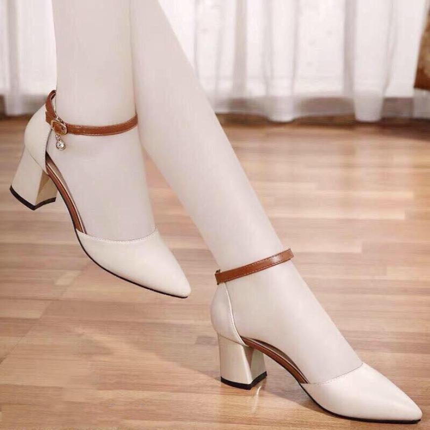 Giày Sandal Cao Gót 7 Phân Mũi Nhọn Tuyệt Phẩm Bền Đẹp Sang Chảnh giá rẻ