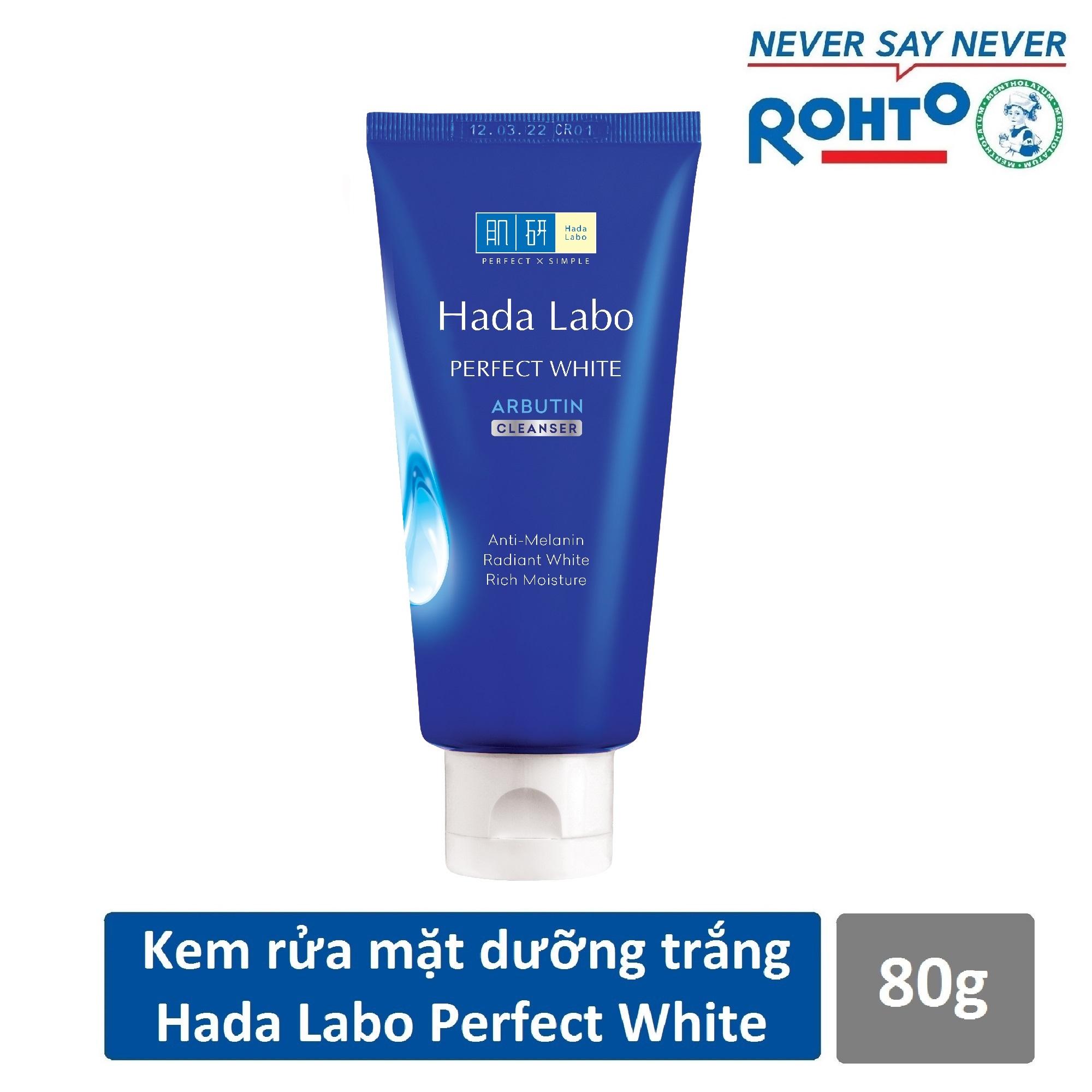 Sữa Rửa Mặt Dưỡng Trắng Hada Labo Perfect White Cleanser 80g Đang Có Khuyến Mãi