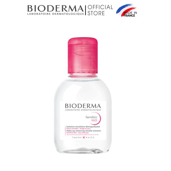 Dung dịch làm sạch và tẩy trang micellar cho da thường và da nhạy cảm Bioderma Sensibio H2O - 100ml