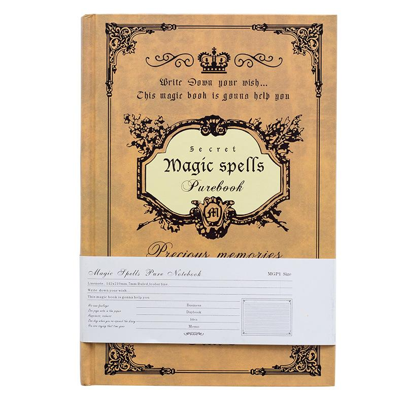 Mua Sổ tay ghi chép, nhật kí bìa cứng kích thước A5 Magic Book, phong cách cổ điển, giấy chống chói, thích hợp cho học sinh sinh viên, nhân viên văn phòng