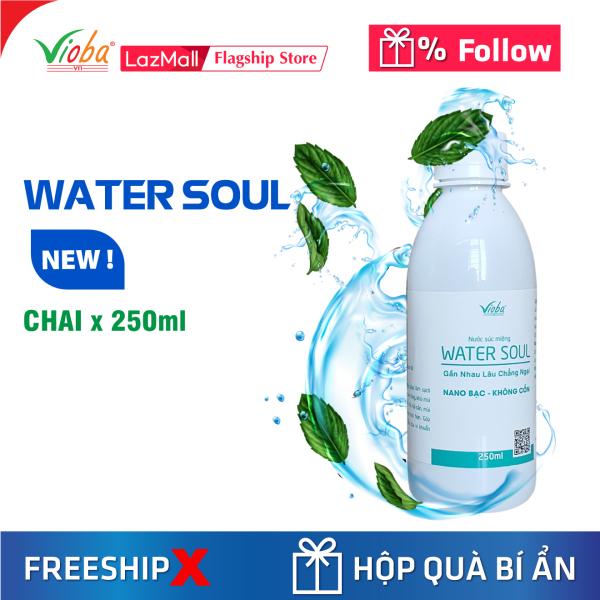 Nước súc miệng Bạc Hà, Nano Bạc, không cồn. Diệt khuẩn, làm sạch, thơm miệng, ngăn ngừa sự hình thành phát triển mảng bám, cao răng - Water Soul, chai 250ml.