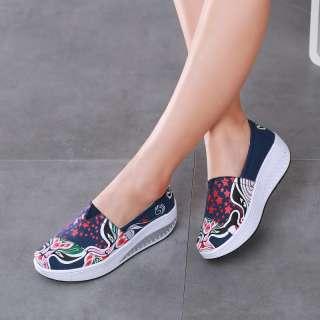 DOSREAL Giày Đế Bằng Cho Nữ, Giày Thể Thao Nữ Thường Ngày Thoáng Khí, Giày Vải Giày Đi Bộ Đế Dày Dành Cho Nữ