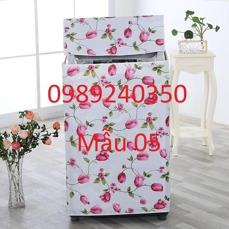 Giá Vỏ bọc, áo trùm máy giặt lồng đứng (cửa trên) vải bạt bền đẹp chống nước loại to