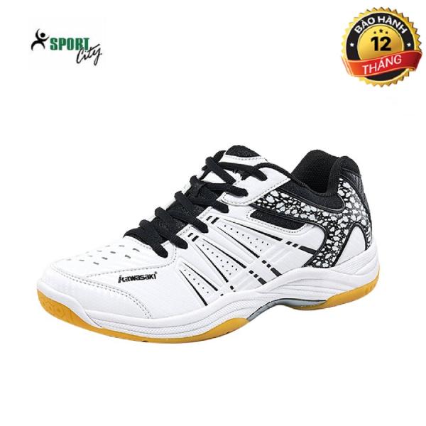 Giày cầu lông, Giày bóng chuyền,giày thể thao Kawasaki K063 màu trắng đen đẳng cấp, bền, đa dạng kiểu dáng màu sắc dành cho nam & nữ