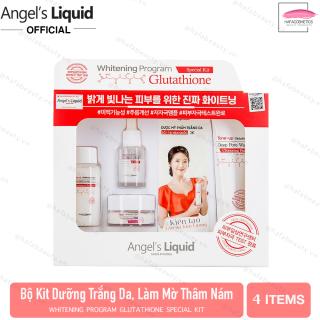 Bộ Kit 4 Sản Phẩm Dưỡng Trắng Da, Làm Mờ Thâm Angel s Liquid Whitening Program Glutathione Special Kit thumbnail