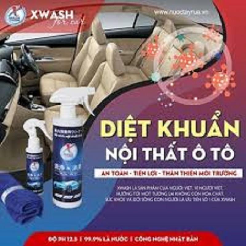Chai  xịt làm sạch nội thất ô tô XWASH Không dùng hoá chất loại bỏ 99% vi khuẩn ( tặng kèm khăn XWASH)