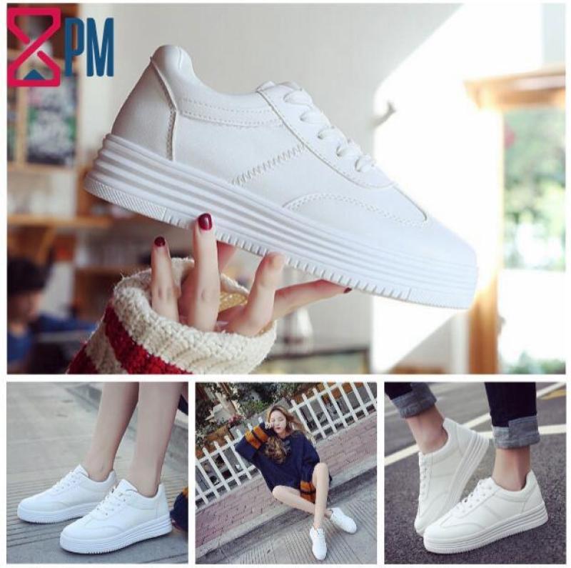Giày Nữ Màu Trắng Giày Thể Thao Sneaker Tăng Chiều Cao G0902