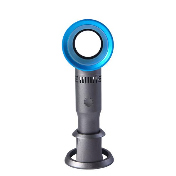 Bladeless Fan USB Rechargeable Handheld Mini Cooler Portable No Leaf Handy Fan with 3 Fan Speed