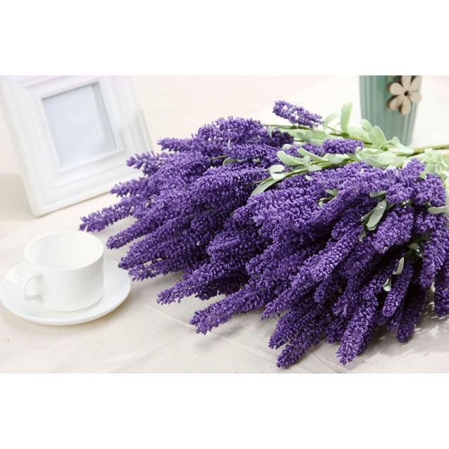 Cành hoa lavender - Hoa giả lavender trang trí nhà cửa