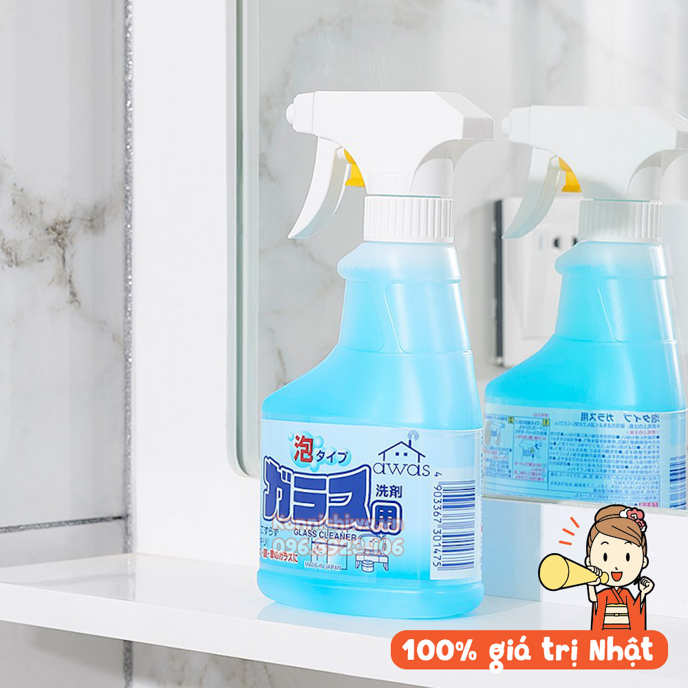[Hàng Nhật] Xịt tẩy rửa kính dạng bọt 300ml hãng Rocket nội địa Nhật Bản, tẩy rửa làm sạch mặt bàn, mặt gương, kính, làm sạch mặt bếp