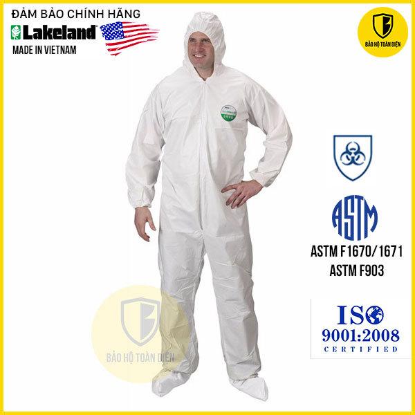 Bộ quần áo chống hóa chất, chống virus Lakeland CTL 428