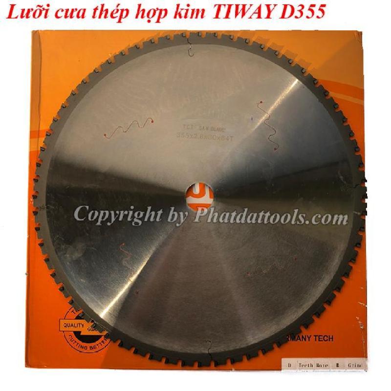 Lưỡi cưa thép hợp kim tốc độ chậm TIWAY D355mm-64 răng