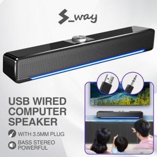 S-Way USB Bluetooth Loa Máy Tính Có Dây Loa Máy Nghe Nhạc Mạnh Mẽ Âm Thanh Nổi Bass Loa Siêu Trầm Cho PC Laptop MP3 MP4