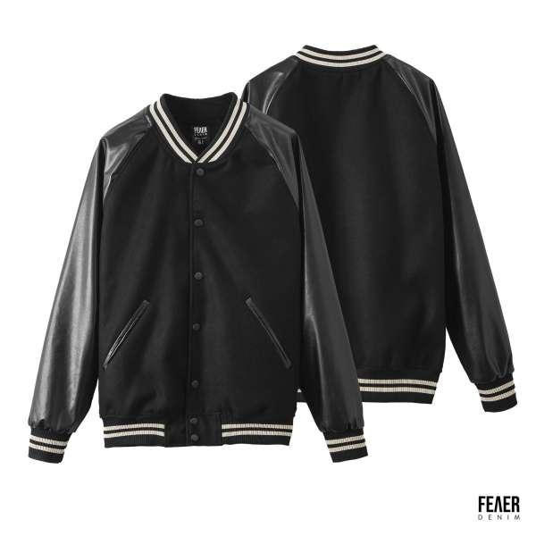 FEAER DENIM - Áo Khoác Nam Bomber Felt & Leather Chất vải nỉ phối da Cao Cấp