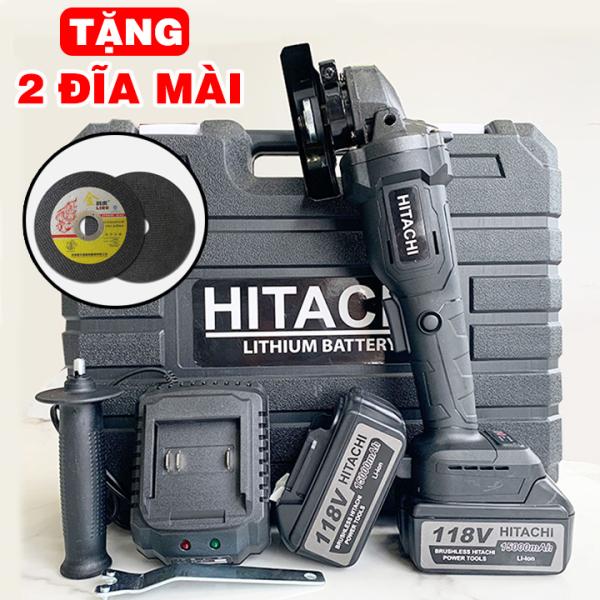 [ TẶNG BỘ 2 ĐĨA MÀI ] Máy Mài Pin Hitachi 118V ,Máy Cắt, Máy Cưa, Máy Đánh Bóng , Máy Mài Cắt Hitachi - 100% lõi đồng - Máy mài dùng pin 10 cell , máy cắt cầm tay, Máy mài góc đa năng