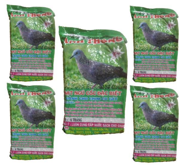 Combo 5 Gói Hạt Ngũ Cốc Chim Cu Gáy Anh Thông 300g - Thức Ăn Chim
