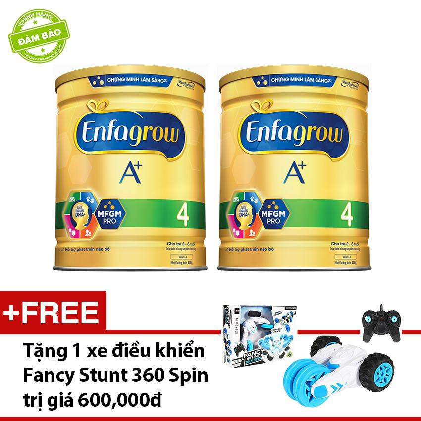 Bộ 2 lon sữa bột Enfagrow A+4 1.8kg tặng 1 đồ chơi xe điều khiển Fancy Stunt 360 Spin trị giá 600,000 VNĐ