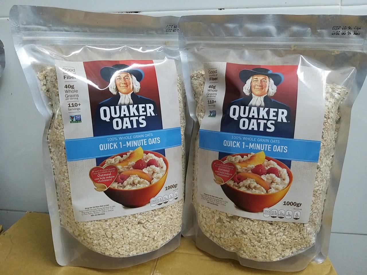 Cơ Hội Giá Tốt Để Sở Hữu Yến Mạch Quaker Cán Vỡ 1kg Nhập Khẩu Mỹ