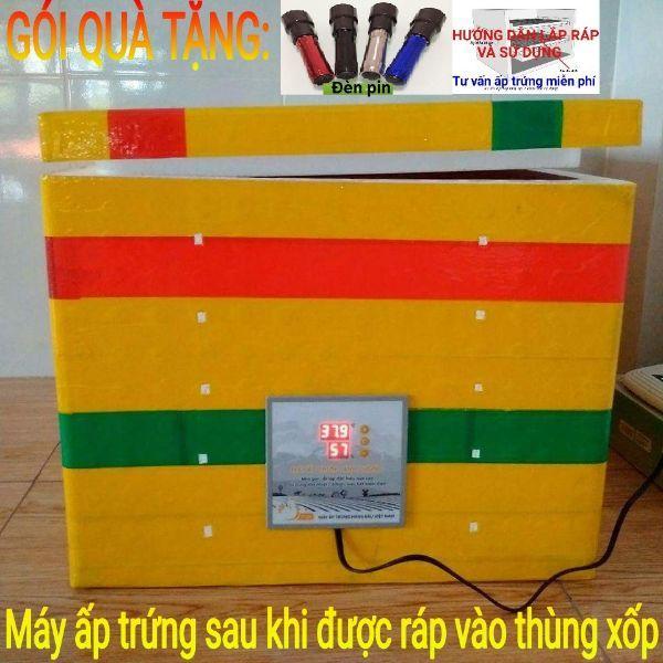 Máy ấp trứng gà mini Ánh Dương P100 - tặng 01 đèn pin soi trứng
