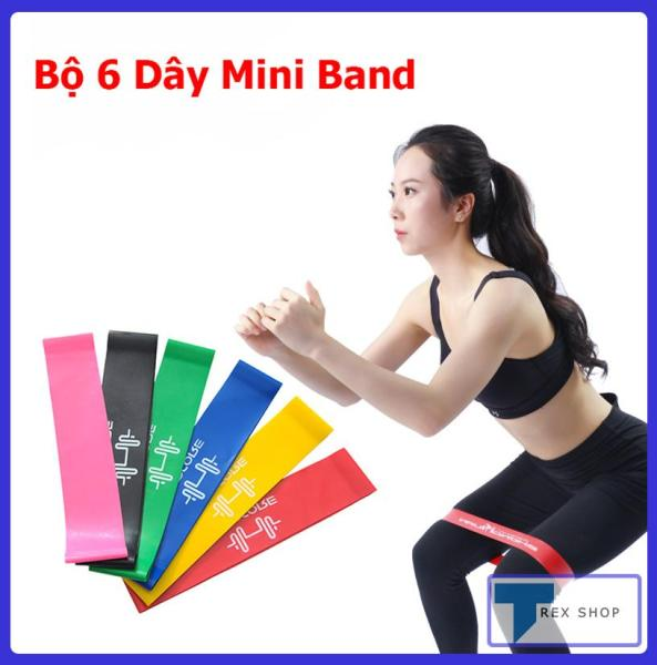 Bảng giá Bộ 6 dây kháng lực Mini Band đa năng SP090 - Dây cao su tập gym (phụ kiện gym, mini band, tập mông, tập chân,  thể dục, thể hình, Yoga, Aerobic,Zumba Fitness)