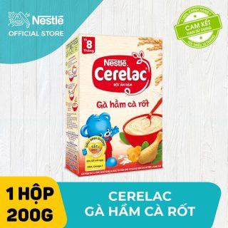 Bộ 2 hộp Bột ăn dặm Nestlé Cerelac 200g Gà Hầm Cà Rốt và Rau Xanh & Bí Đỏ + Tặng 1 lục lạc cầm tay thumbnail