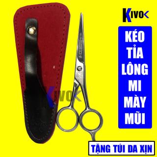 Bộ Kéo Cắt Lông Mũi - Lông Mi - Lông Mày HONGBAO 5.5 inch + TẶNG KÈM BAO DA CAO CẤP - Kéo cắt tỉa lông cao cấp thumbnail