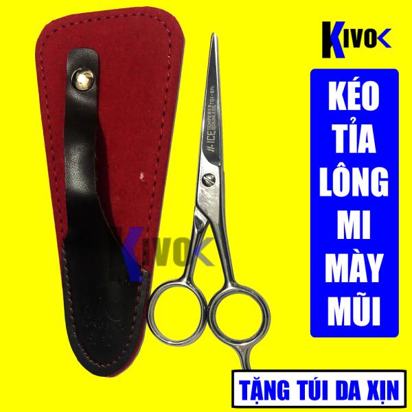 Bộ Kéo Cắt Lông Mũi - Lông Mi - Lông Mày HONGBAO 5.5 inch + TẶNG KÈM  BAO DA CAO CẤP - Kéo cắt tỉa lông cao cấp cao cấp