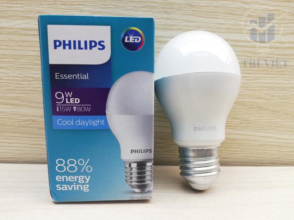 Combo 5 Đèn Led Phillips 9W (Ánh sáng trắng - Ánh sáng ấm)