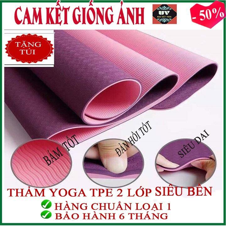 Bảng giá [TRỢ GIÁ] [BAO CHẤT LƯỢNG ]Thảm tập Yoga/ Gym Tpe dày 8mm cao su non 2 lớp ( Tặng túi đựng) Hàng chuẩn loại 1, tham yoga, Tham tap yoga, thảm tập yoga, thảm yoga, thảm yoga tpe 2 lớp, thảm yoga tpe , thảm yoga Hà Nội, thảm yoga cao cấp [ BC