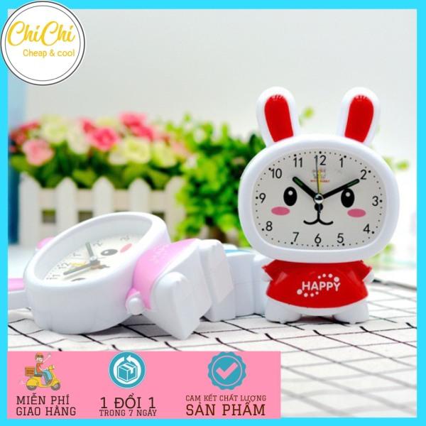 Nơi bán Đồng hồ báo thức hình Kitty có chân dễ thương DH03 Chichi, Đông hồ để bàn báo thức, Đồng hồ để bàn phòng ngủ dễ thương