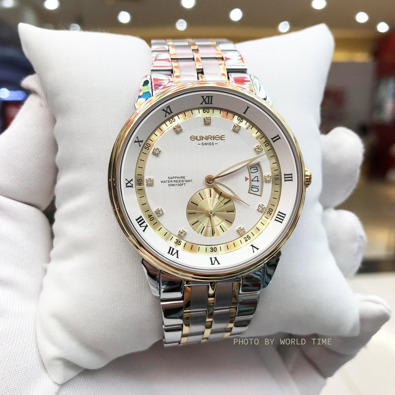 Đồng hồ thời trang Nam Sunrise H1118A [Full box],kính Sapphire chống xước, chống nước, bảo hành 3 năm. bán chạy