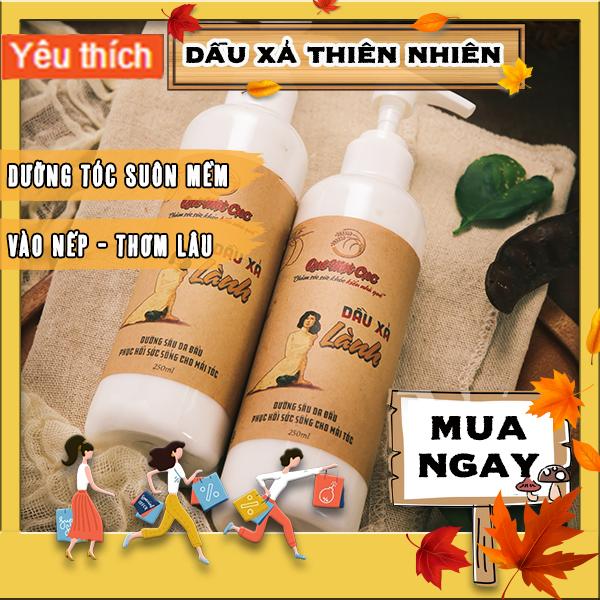 Dầu xả dưỡng tóc suôn mềm, bóng mượt QUÊ MỘT CỤC hương bưởi 250ml (trắng)