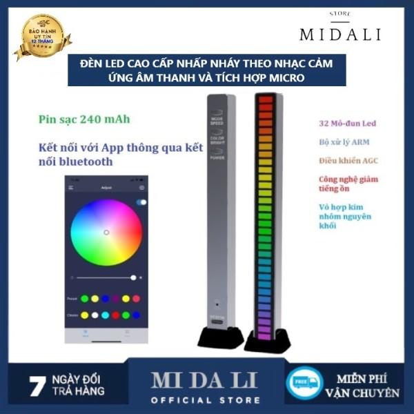 Bảng giá [ BẢO HÀNH 12 THÁNG ] Đèn LED Âm nhạc RGB Điều khiển âm thanh Đèn LED cấp độ ánh sáng Thanh nhịp điệu Đèn PC Thiết lập máy tính để bàn Đèn nền Xe ô tô Đèn trang trí ánh sáng khí quyển 32 Bit