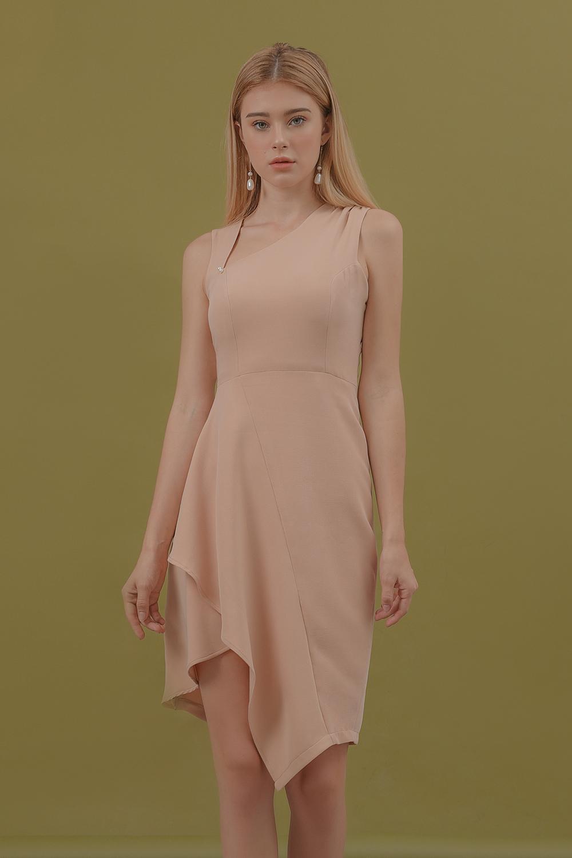 Đầm Form Ôm Đính Hạt Ngọc - Lilya 01DRE2325 Khuyến Mãi Sốc