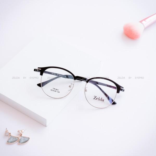 Giá bán [LẮP SẴN CẬN] Gọng kính cận nữ, gọng cận mắt tròn Z1841