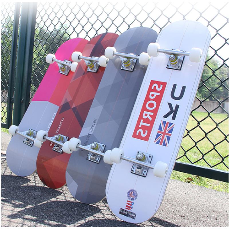Giá bán (DỌN KHO XẢ CƯC SỐC ) Ván Trượt Skateboard Mặt Nhám Đen, Gỗ Phong Ép 7 Lớp, Chịu Được Trọng Tải Tới 60kg, Ván Trượt Người Lớn- Kailas