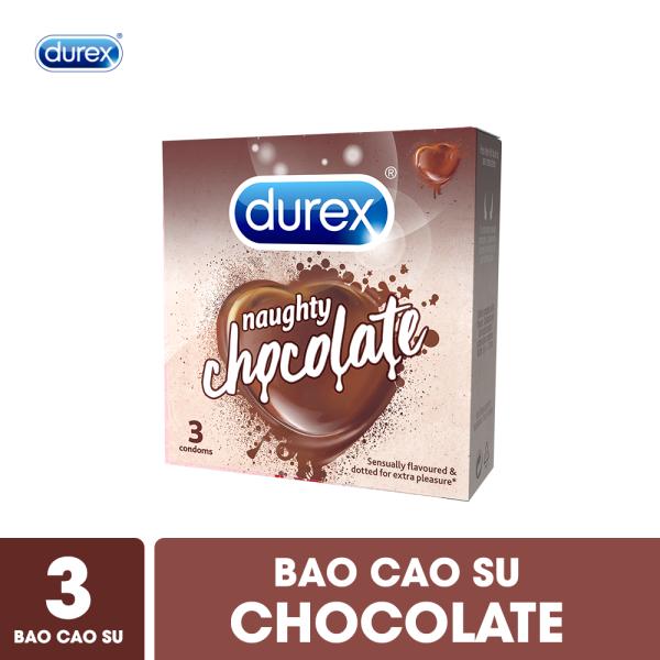 [QUÀ TẶNG KHÔNG BÁN] Bao cao su Durex Naughty Chocolate - Hộp 3 bao nhập khẩu