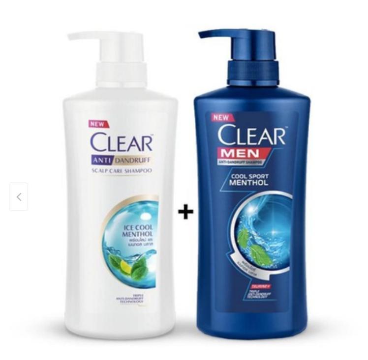 COMBO 2 CHAI DẦU GỘI CLEAR _clearmen và bạc hà - DẦU GỘI giá rẻ
