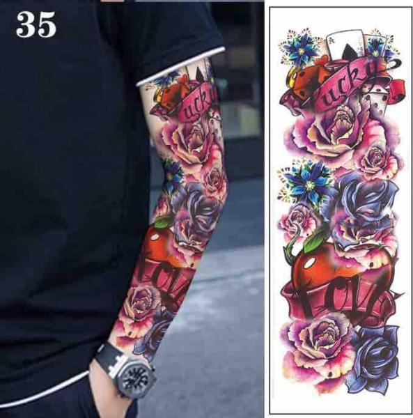 Hình xăm dán hoa hồng bao kín tay hoặc nửa lưng có chống thấm nước tốt nhất