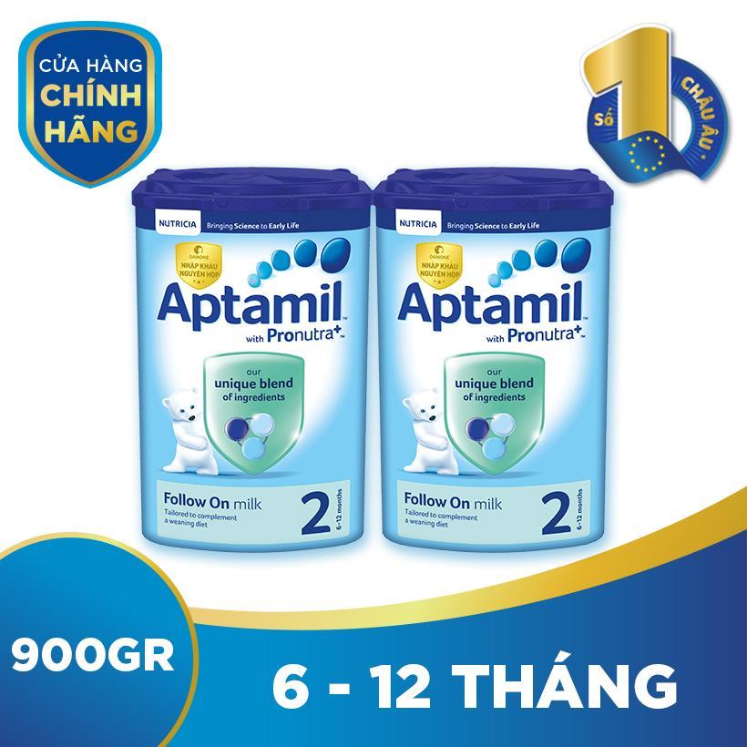Bộ 2 hộp sữa bột công thức Aptamil số 2...
