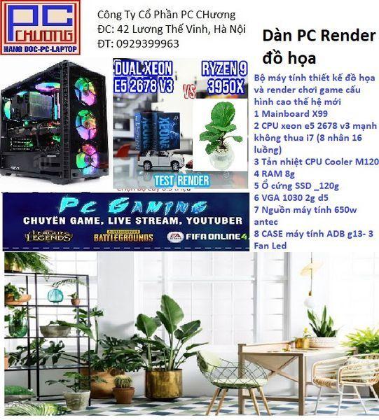 Bảng giá Chiến Game, Main X99 ,CPU  xeon E5 2678 RAM 8g Ổ cứng SSD _120g VGA 1030 2g d3 6 lõi 12 luồng tương đương chíp i7 Phong Vũ