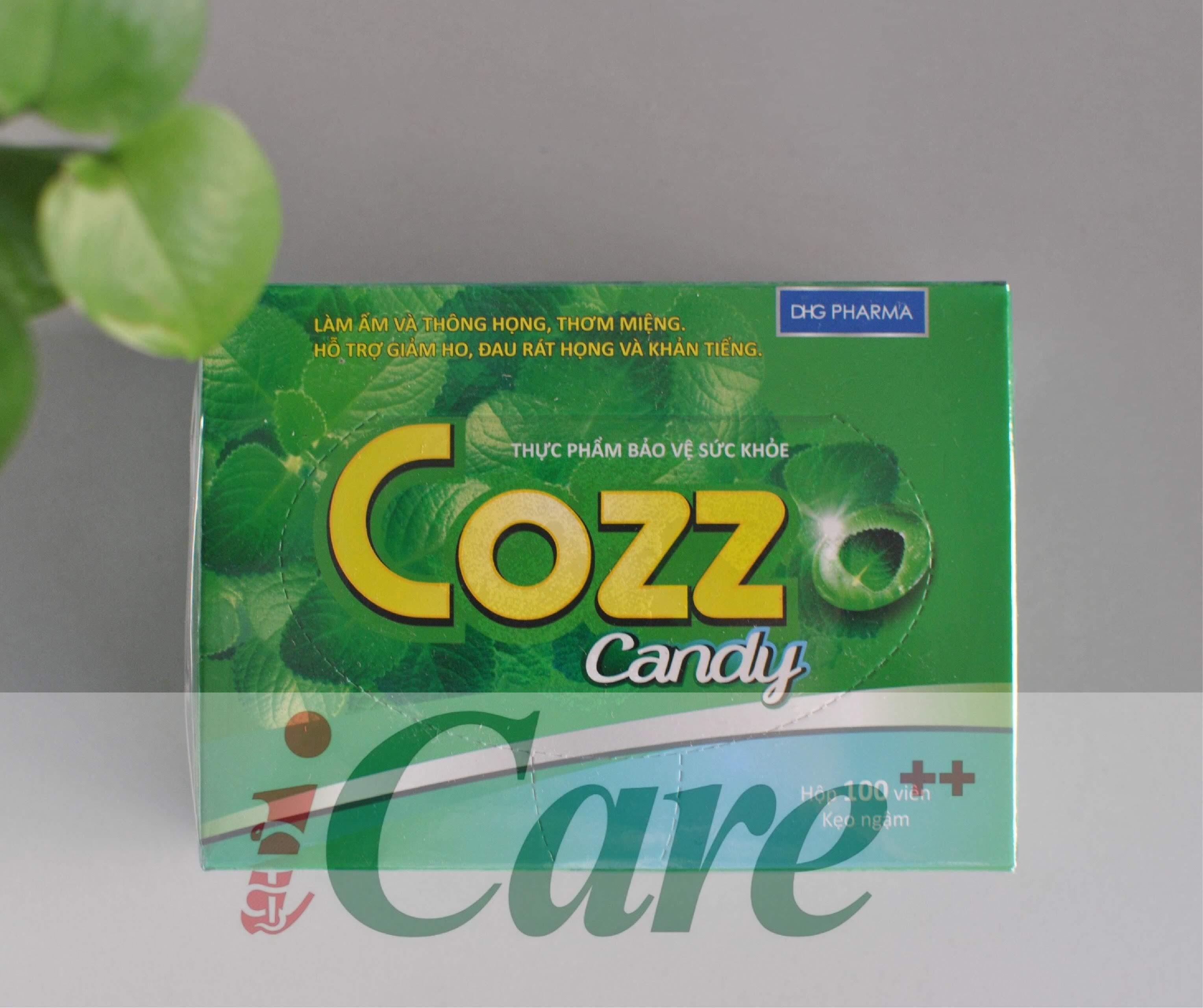 COZZ CANDY - KẸO NGẬM HO BẠC HÀ