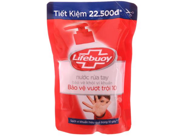 (hàng khuyến mãi - 450g) Nước rửa tay Lifebuoy Bảo vệ vượt trội 10 nhập khẩu