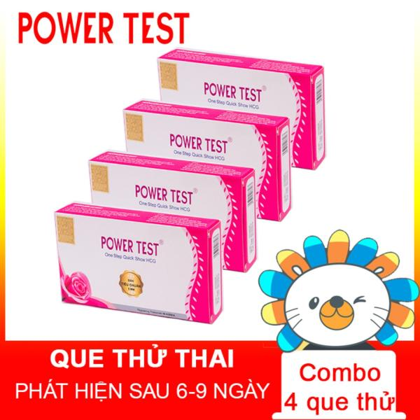 Que thử thai Powertest combo 4 chiếc cao cấp