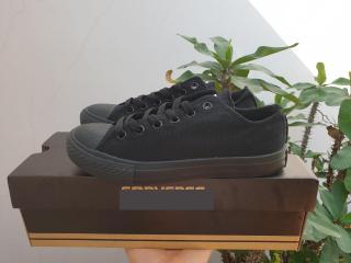 giày cv full đen thấp cổ - tặng hộp thumbnail