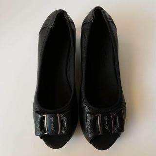 Giày búp bê nữ đế xuồng da bò thật cao cấp bảo hành một năm thumbnail